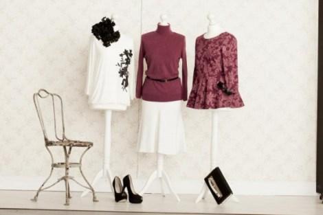 40er Retro-Style: für Curvys: Blumenprints, Taillen-Betonung und femininer Strick Bild: bonprix.de