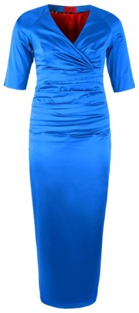 Für Curvys: Versuchung in Electric Blue - Long Evening Dress - dorismegger.com