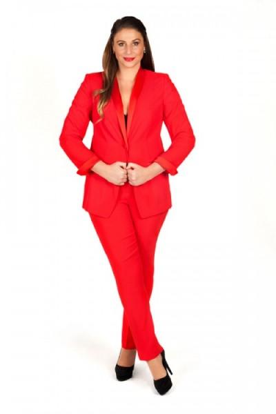 Plus-Size-Hosenanzug in Rot