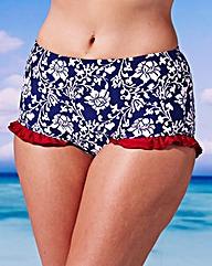 Geblumte Bikinihose mit roten Rüschchen in XXL I Simplybe-euro.com