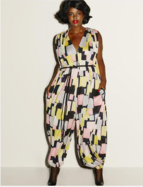 Jumpsuit mit Retro-Muster I Credits: Beth Ditto