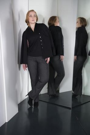 Smartes Twin-Set in Black I Business Fashion für Curvys I Adam Brody Zürich