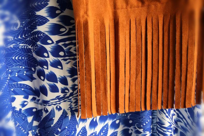 Fransenjacke Kleid Blumenprint Curvy 7759