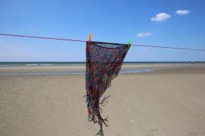 Poncho für den Strand