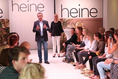 Begrüßung durch den Geschäftsführer von Heine