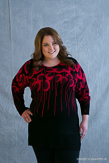 Long-Pulli mit Blumenmuster I Curvy Fashion