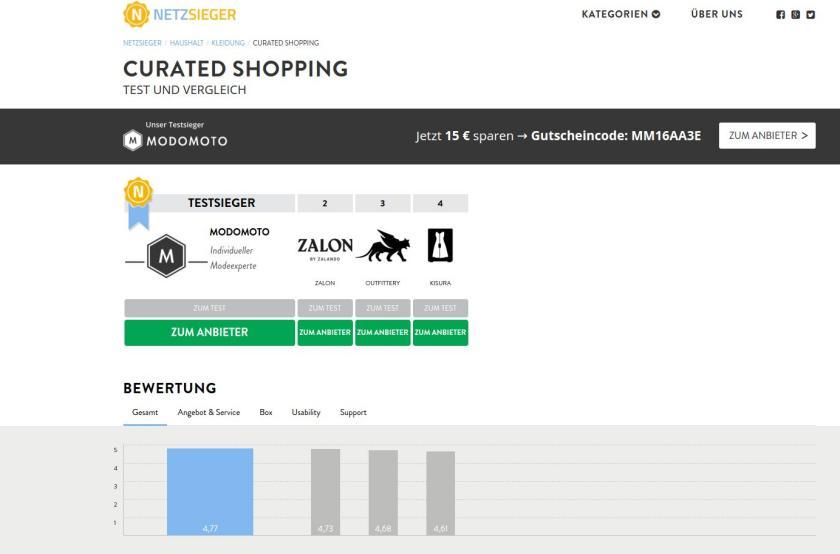 Screenshot Netzsieger