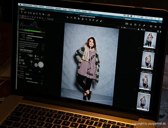 "Tanja beim ""Feel like a model"" Styling I Credits: PlusPerfekt.de"