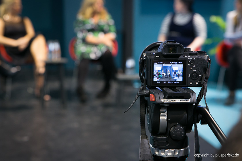 Kamera-Perspektive des Curvy Talks