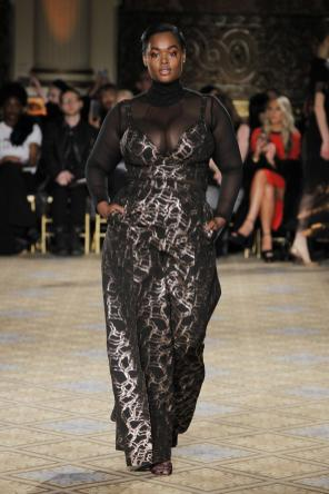 Silber - Schwarz - Transparenz I Kleid von Christian Siriano II Black - Silver - Transparency I Dress by Christian Siriano