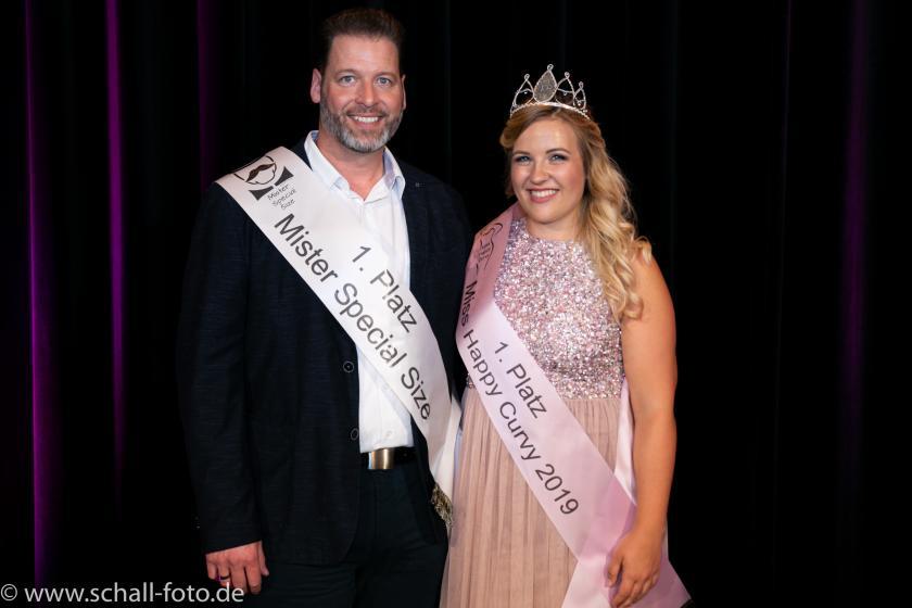 Miss Happy Curvy & Mister Special Size 2019: Congratulations an Felicitas Noe & Volker Baumann