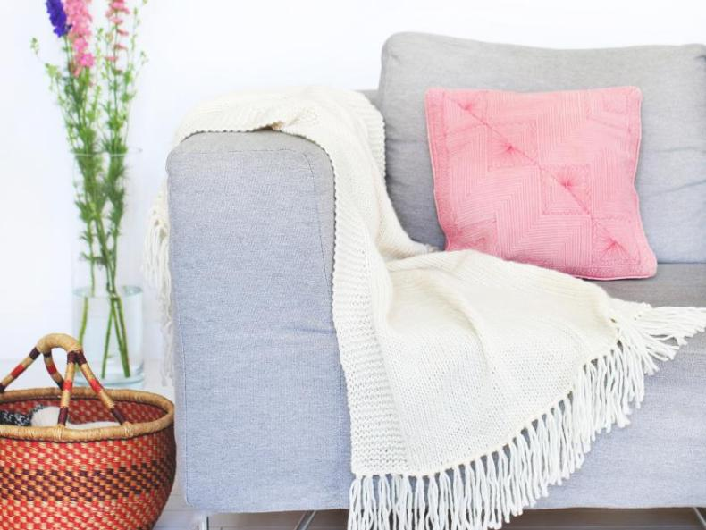 DIY-Wolldecke von We Are Knitters aus der Blanket Kollektion | Material Merinowolle