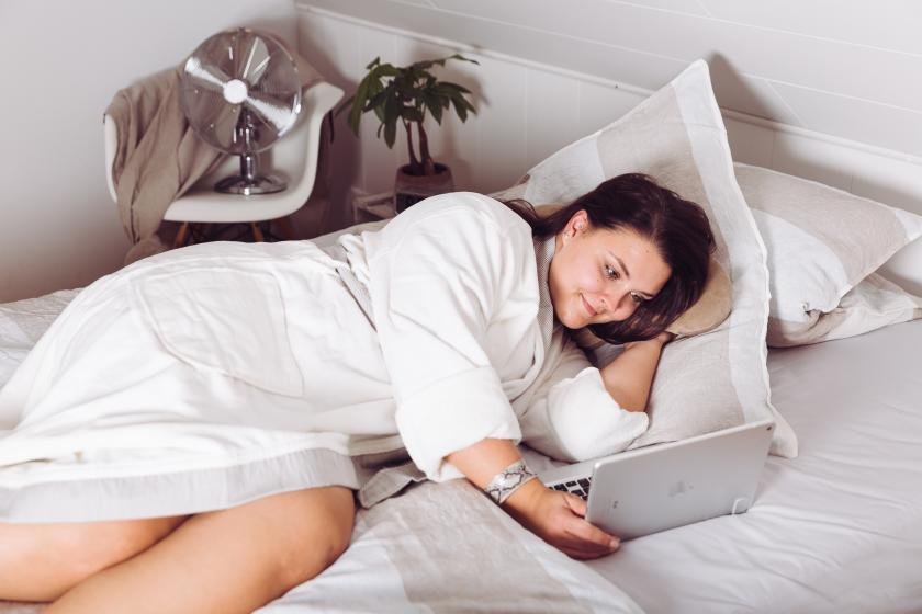 Leinen-Bettwäsche, temperaturausgleichend im Sommer und Winter