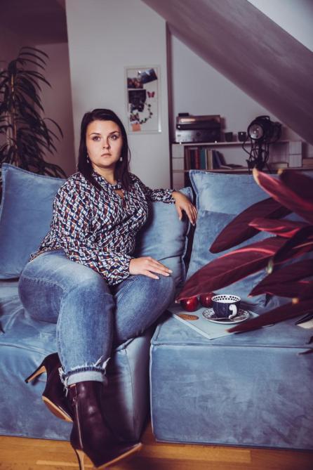 Outfit für Curvys: Bluse von Maxima Fashion, Hose von Silver Jeans