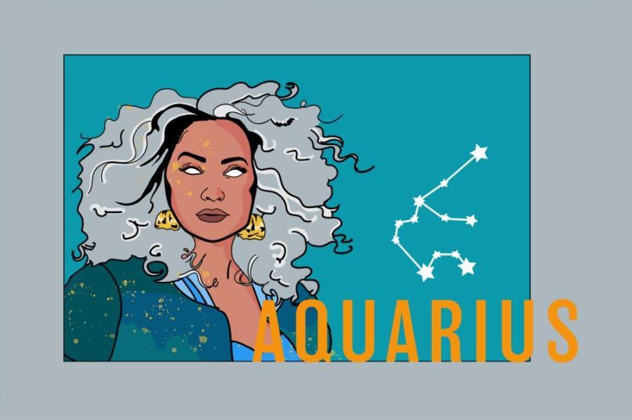 Zodiac Aquarius | Das Sternzeichen Wassermann | PopArt by Ann-Christin Scharf | PlusPerfekt