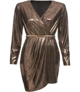 Kleid in der Trendfarbe Gold | Credits: bonprix