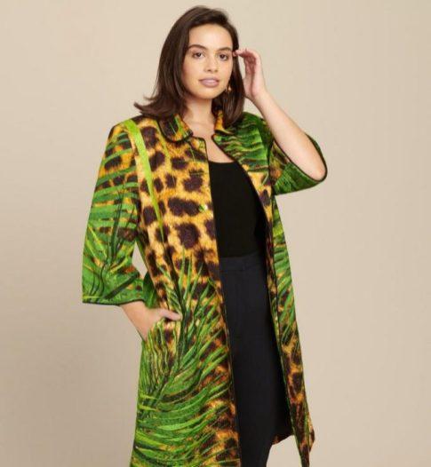 Jacke mit Jungle Print für Curvys aus der Kollektion von Naeem Khan