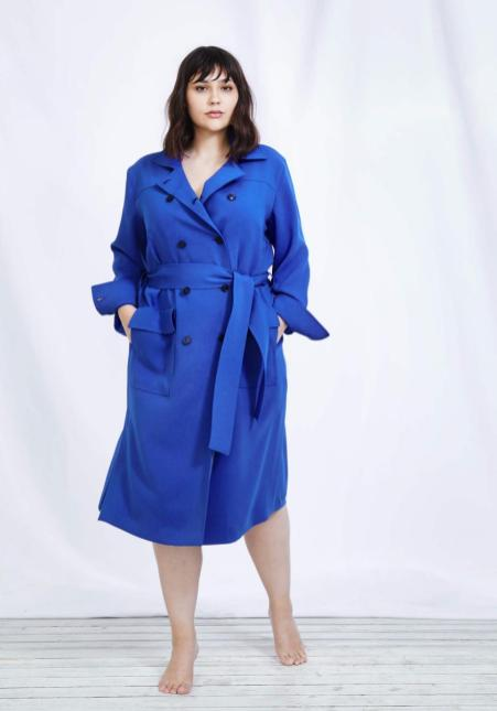 Trenchcoat-Kleid aus der Sallie Sahne Kollektion