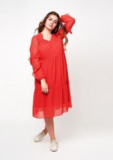 Transparent meets Rüschen | Curvy-Kleid von Maxima Fashion