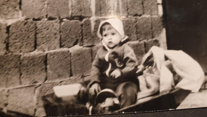 Dachdeckermeisterin Stefanie Ludewig als Kind | Sommer 1980
