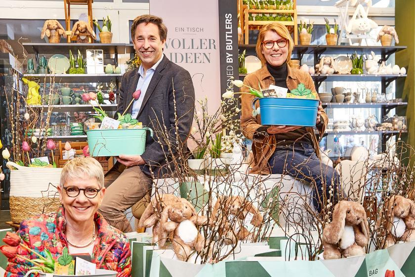 Butlers Ostern Spenden-Aktion mit Bettina Böttinger