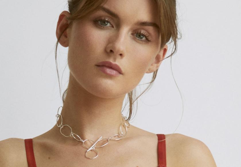 Fairtrade: Statement Link Choker Kette aus recyceltem 925er Sterling Silber | Designerin Emma Barnes | Credit: Kontor1710