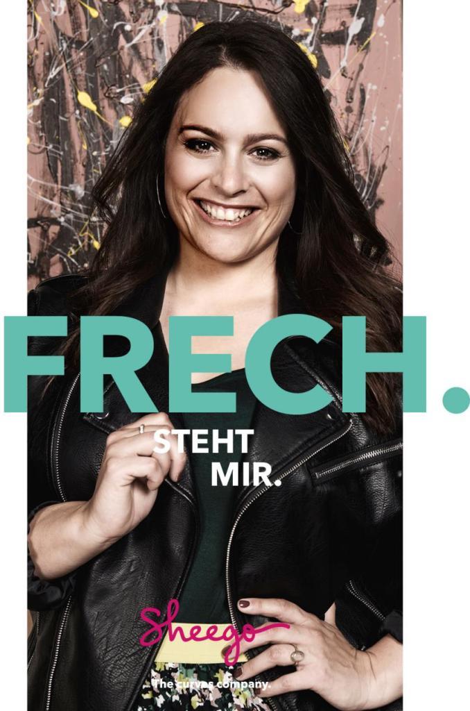 TV-Moderatorin Leonie Koch, fotografiert für die neue sheego Kampagne #myperfectstyle