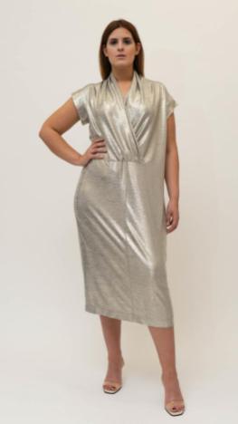 Kleid mit Metallic-Effekt von Adam Brody