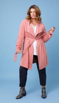 Fake-Wildleder-Jacke in Rose-Pink von Maxima