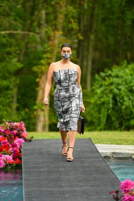 Schwarz x Weiß | Curvy Dress aus der Spring Summer Kollektion von Christian Siriano