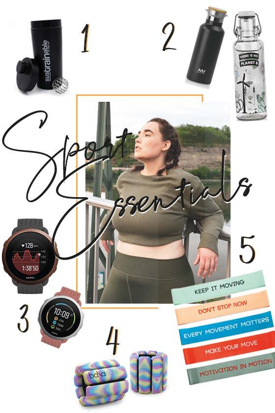 Editor's Pick mit Produkten für Home Workouts und Jogging.