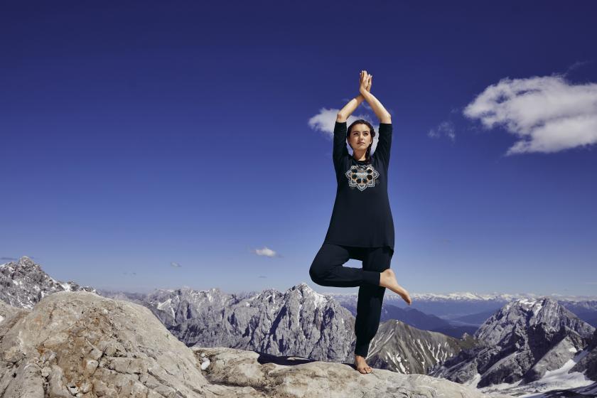 Yoga Curvys Plus Size Mollige Shirt Top blaugruen neu 002