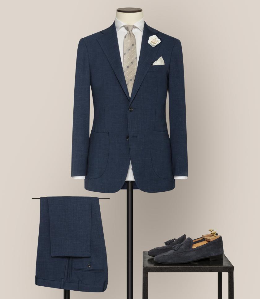 Der perfekte Look für den Bräutigam   Hochzeitsanzug in Blau   Credit: KingsmanHouse