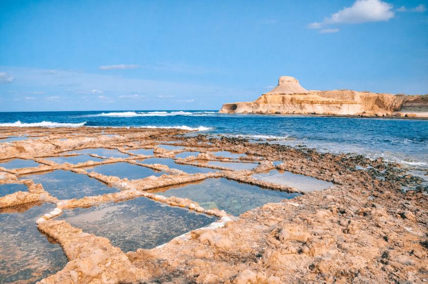 Die Salzpfannen an der Nordküste von Gozo