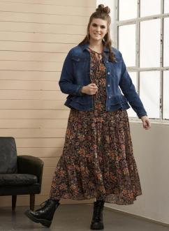 Kleid für Curvys mit verschiedenen Brauntönen   Zhenzi