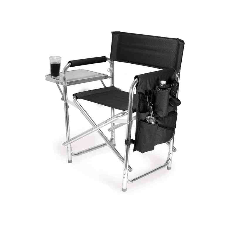 Picnic Time Portable Folding 'Sports Chair', Black - beach chairs for large person