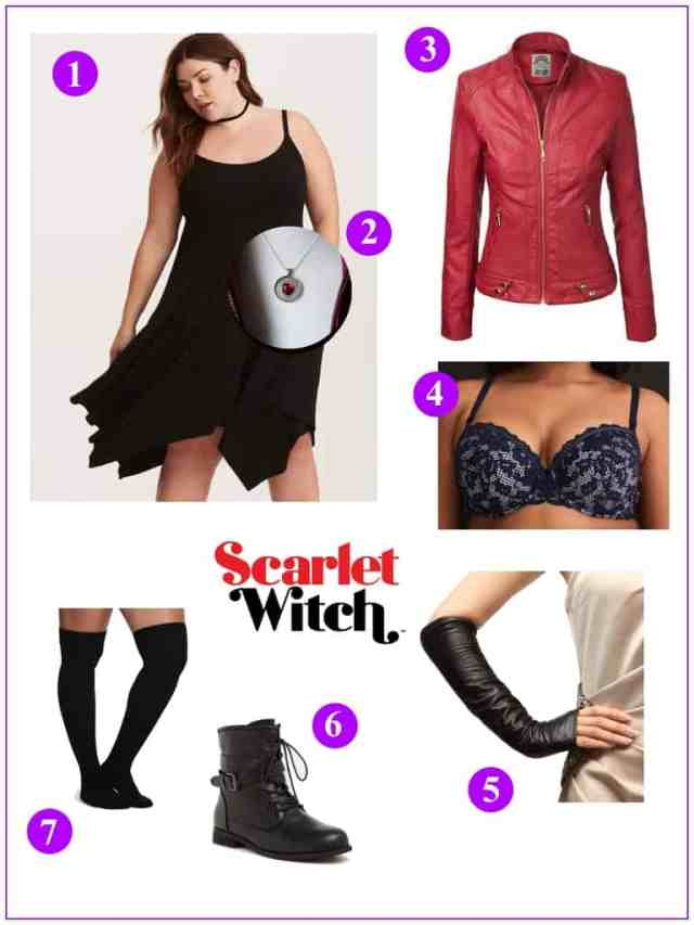 Plus Size Scarlet Witch Look