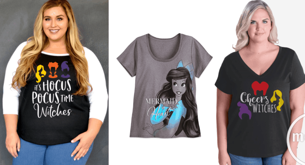 Dreams Come True in These Plus Size Disney Shirts for Women
