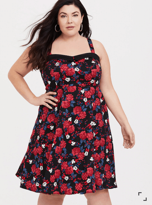 Plus Size Minnie Mouse Pinup Dress