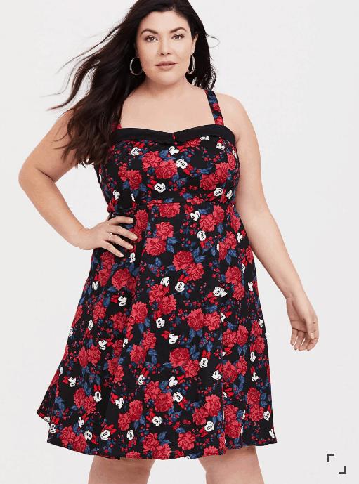 Plus Size Minnie Mouse Pinup Dress