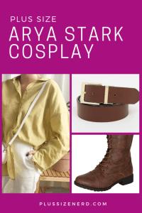 Plus Size Arya Stark Cosplay