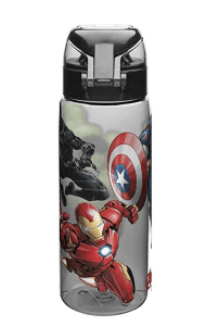 Marvel Comics Water Bottles, Tritan, Black Panther, Hulk, Captain America & Iron Man