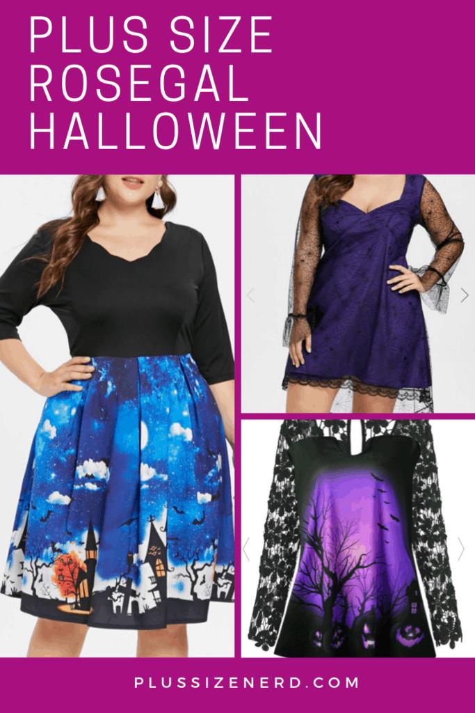 Plus Size RoseGal Halloween Dress Leggings and Tunic