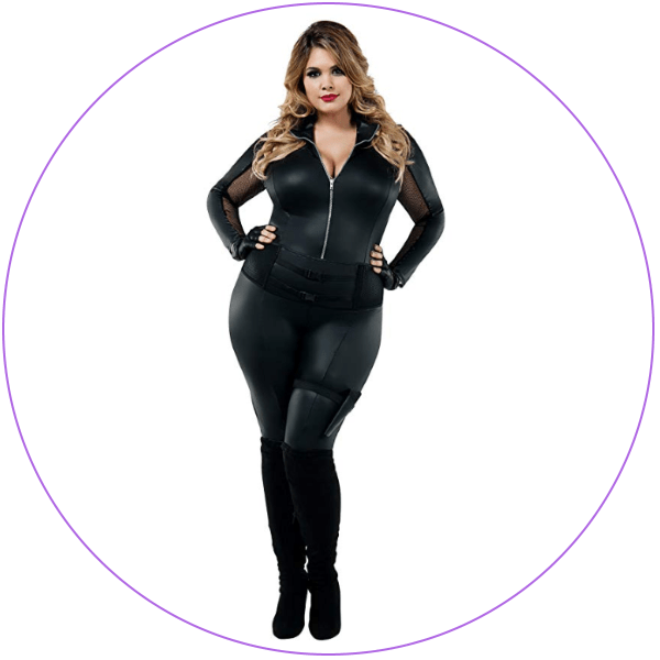 Plus Size Black Widow Costume Bodysuit