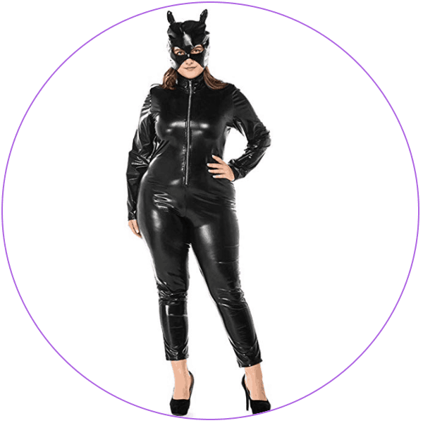 Plus Size Catwoman Costume Shiny