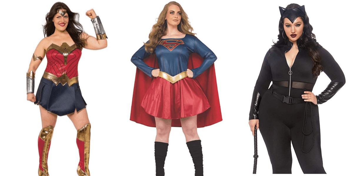 Plus Size Wonder Woman Costume and DC