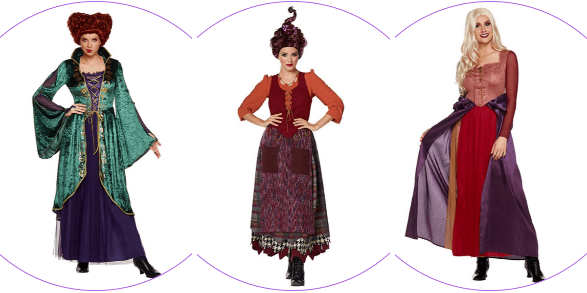 Plus Size Sanderson Sisters Costumes from 'Hocus Pocus'