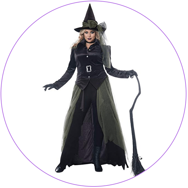 Plus Size Velvet Witch