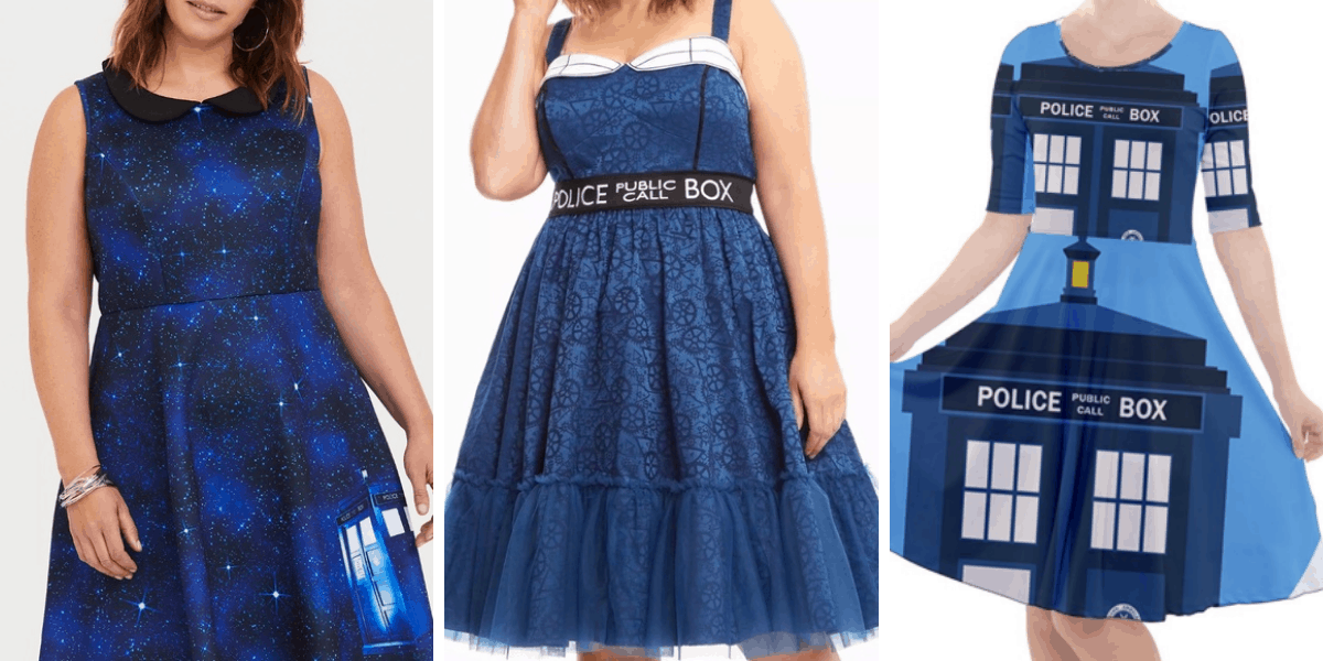 Plus Size Tardis Dress for Doctor Who Fans
