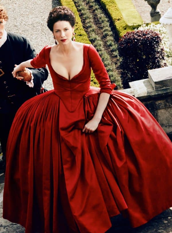 Claire Fraser Red Dress